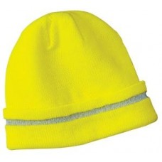 CornerStone - Enhanced Visibility Beanie with Reflective Stripe  CS800