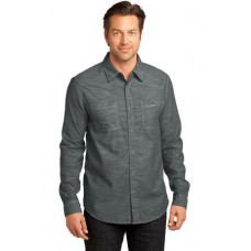 District Made - Mens Long Sleeve Washed Woven Shirt DM3800