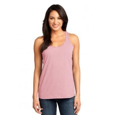District Made - Ladies Mini Stripe Gathered Racerback Tank DM421