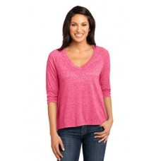 District Made - Ladies Microburn V-Neck Raglan Tee DM462