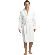 Port Authority Checkered Terry Shawl Collar Robe R103